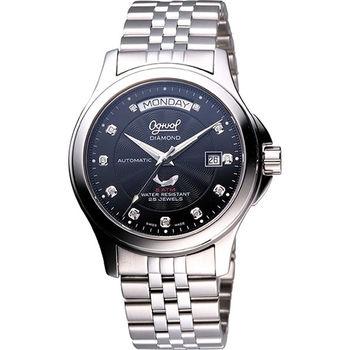Ogival 愛其華 紳士真鑽機械錶3353AJMS黑面