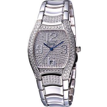 【Ogival】現代經典酒桶型晶鑽腕錶830M-1485