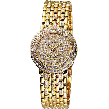 【Ogival】莎士比亞晶鑽腕錶(金)3732FMK