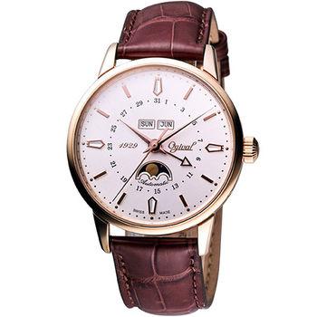 Ogival 強者天下日月相機械腕錶(銀白)1929-90AGRP