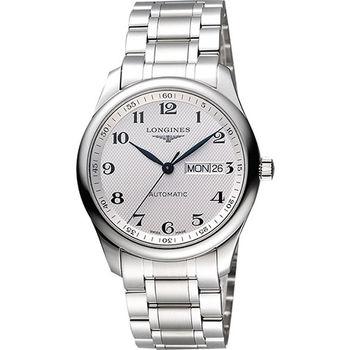 LONGINES Master 巨擘系列機械腕錶-銀L27554786