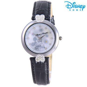 【Disney迪士尼】米奇米妮甜在心 皮革錶 造型腕錶 (米奇款)