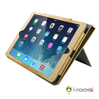 【i-rocks】iPad Air 專用皮革保護皮套 -米色(IRC18W)