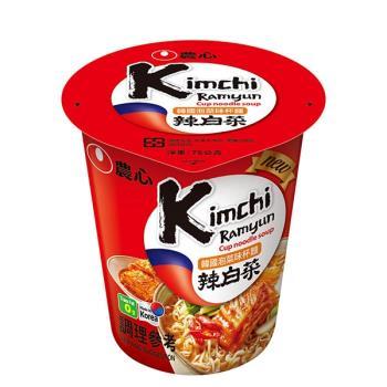 【農心】韓國泡菜味杯麵(75gx12杯/箱)