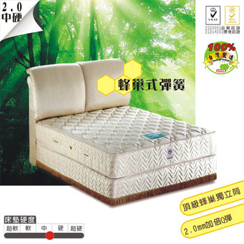 USLEEP天鵝堡彈力蜂巢獨立筒床墊3尺單人