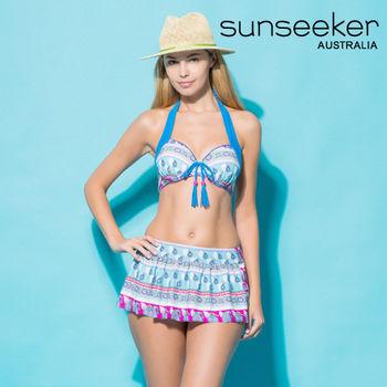 【sunseeker 泳裝】海洋度假系列民俗風情三件式女泳裝 (83104)