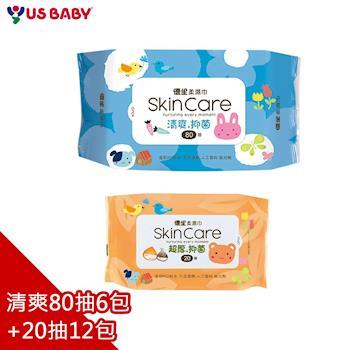 優生 清爽型嬰兒柔濕巾80抽6包 +  超厚型嬰兒柔濕巾20抽12包