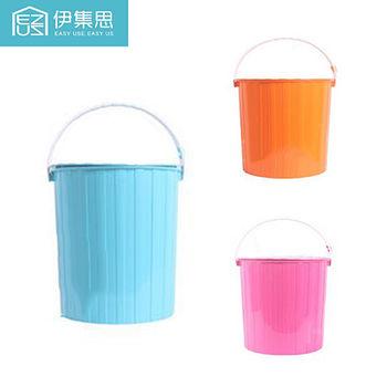 伊集思 馬卡龍繽紛水桶型收納凳(三色可選超值2入組)