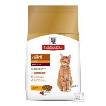 【Hill's】美國希爾思 成貓化毛 體重專用配方 減肥貓飼料 15.5磅 X 1包