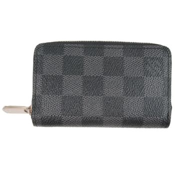 【LV】N63076 黑棋盤格紋信用卡拉鍊零錢包(預購)