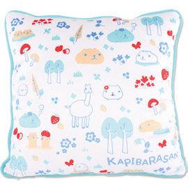 kapibarasan 水豚君北歐系列絨毛抱枕 藍色