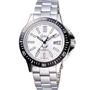 【Ogival】夜鷹氚氣燈管潛水造型腕錶(8003M銀)