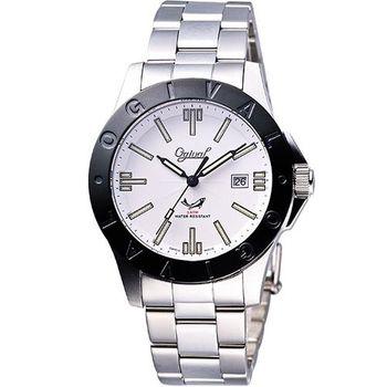 【Ogival】經典夜鷹氚氣燈管腕錶(827MS-IP黑框)