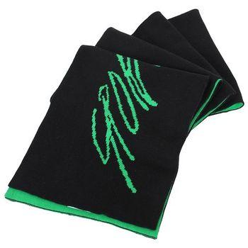 agnes b.-草寫SPORT b.系列雙面圍巾(黑綠)