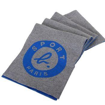 agnes b.-SPORT b.系列雙色圍巾(灰/淺藍)