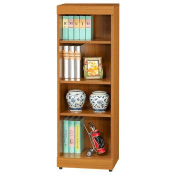 時尚屋 5U 淺柚木1.3x4尺開放書櫃164-283