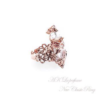 【AK La perfume】琉璃香氛瓶 新古典主義戒指-玫瑰金