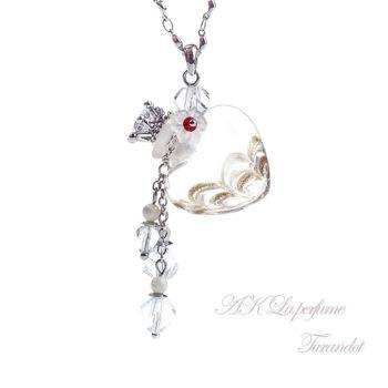 【AK La perfume】琉璃香氛瓶項鍊 杜蘭朵-白色