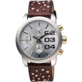 DIESEL Double Down龐克風格計時腕錶DZ5433
