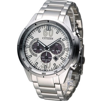 CITIZEN Eco-Drive 星辰 玩命關頭計時腕錶 CA4120-50A