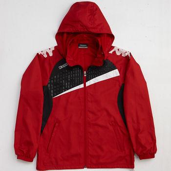 KAPPA義大利時尚型男單層風衣(可拆帽)-C142-1875-1紅