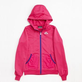 KAPPA義大利 女吸濕排汗速乾針織外套~櫻桃紅-FC42-C305-1