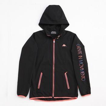 KAPPA義大利 女吸濕排汗速乾單層風衣外套~黑-FC42-C810-8