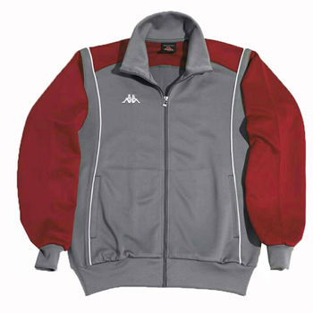 KAPPA義大利吸濕排汗速乾針織外套~灰/紅-PC53-8003-7網