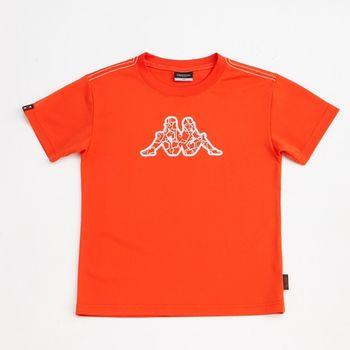 KAPPA義大利小朋友吸濕排汗速乾彩色圓領衫~磚橘色-GA42-A020-2