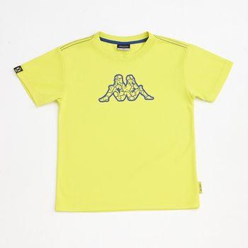 KAPPA義大利小朋友吸濕排汗速乾彩色圓領衫~岩草綠色-GA42-A020-4