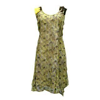 【龐吉PANGCHI】無袖色彩鮮豔飄逸洋裝(1218083-81/82)