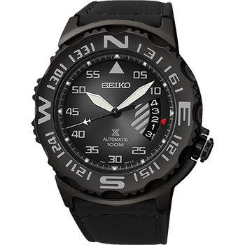 SEIKO Prospex 海龍潛水機械腕錶-鐵灰/黑 4R35-00G0D