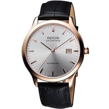 epos 原創系列超薄自動機械腕錶3420.152.24.18.15FB