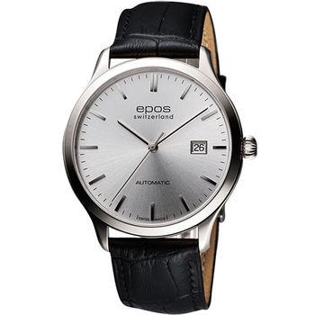 epos 原創系列超薄自動機械腕錶3420.152.20.18.15FB