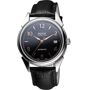 epos 永恆經典機械腕錶-黑3372.132.20.35.25FB