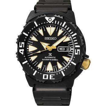 SEIKO Prospex 海龍潛水200米機械腕錶-IP黑 4R36-01J0K