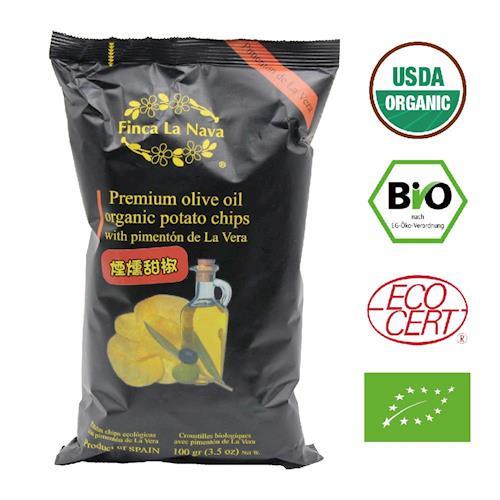 【芬拿】有機橄欖油洋芋片-煙燻甜椒x2