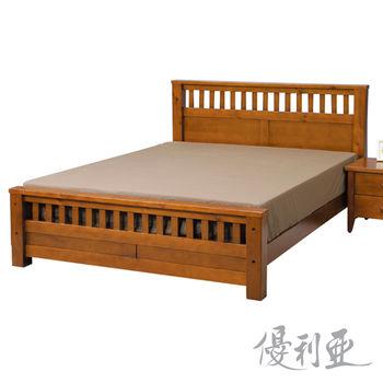 【優利亞-凱莉】加大6尺實木床架