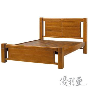 【優利亞-凱倫】加大6尺實木床架