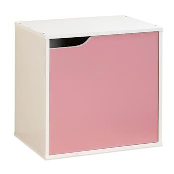 【Hopma】白配粉紅單門收納櫃