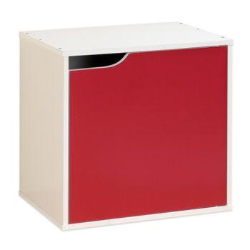 【Hopma】白配桃紅單門收納櫃