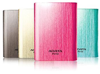 [買就送]ADATA 威剛 APV110-10400M 雙USB行動電源(鈦.桃紅.金.藍)