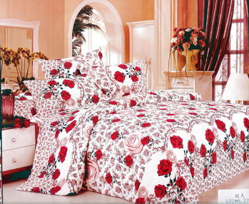 Luo mandi  雙人三件式加大床包組  綻放美豔 6*6.2