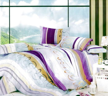 Luo mandi  雙人三件式加大床包組 高雅生活 6*6.2