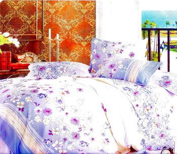 Luo mandi  雙人三件式加大床包組  花語典藏 6*6.2