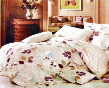 Luo mandi  雙人三件式加大床包組  花葉情愫 6*6.2