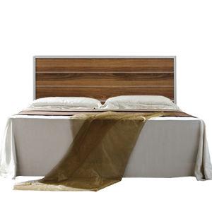 【日式量販】木紋5尺胡桃雙人床組(床頭片+床底)