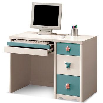 【日式量販】簡約4尺粉藍電腦桌