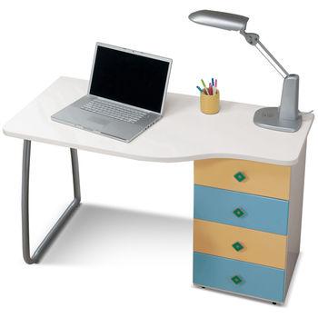 【日式量販】粉藍4尺安全學習書桌