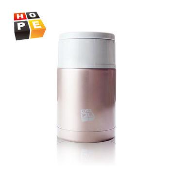 【德國HOPE歐普】超值兩入組-不鏽鋼雙層可提800ml悶燒食物罐